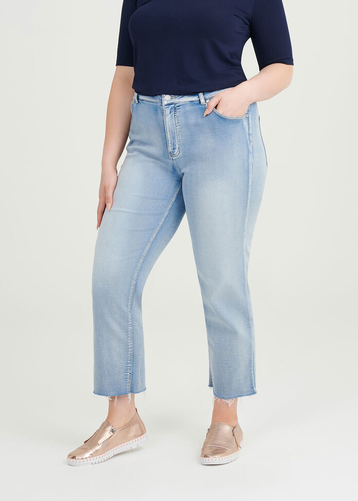 Relaxed Straight Leg Jean, , hi-res