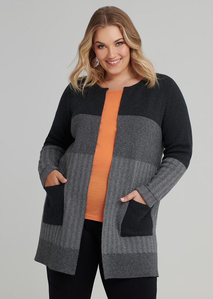 Textured Mix Cardi, , hi-res