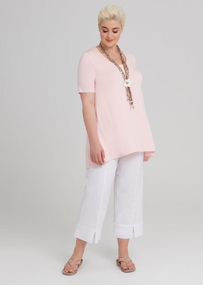 Linen Oasis Crop Pant, , hi-res