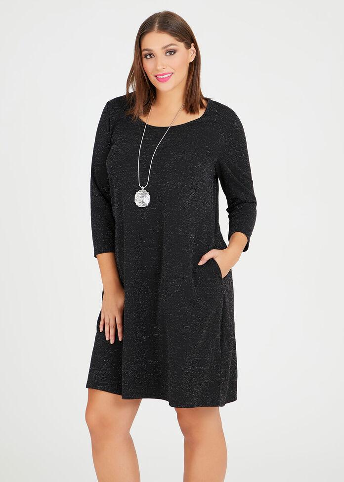 Natalie Lurex Dress, , hi-res