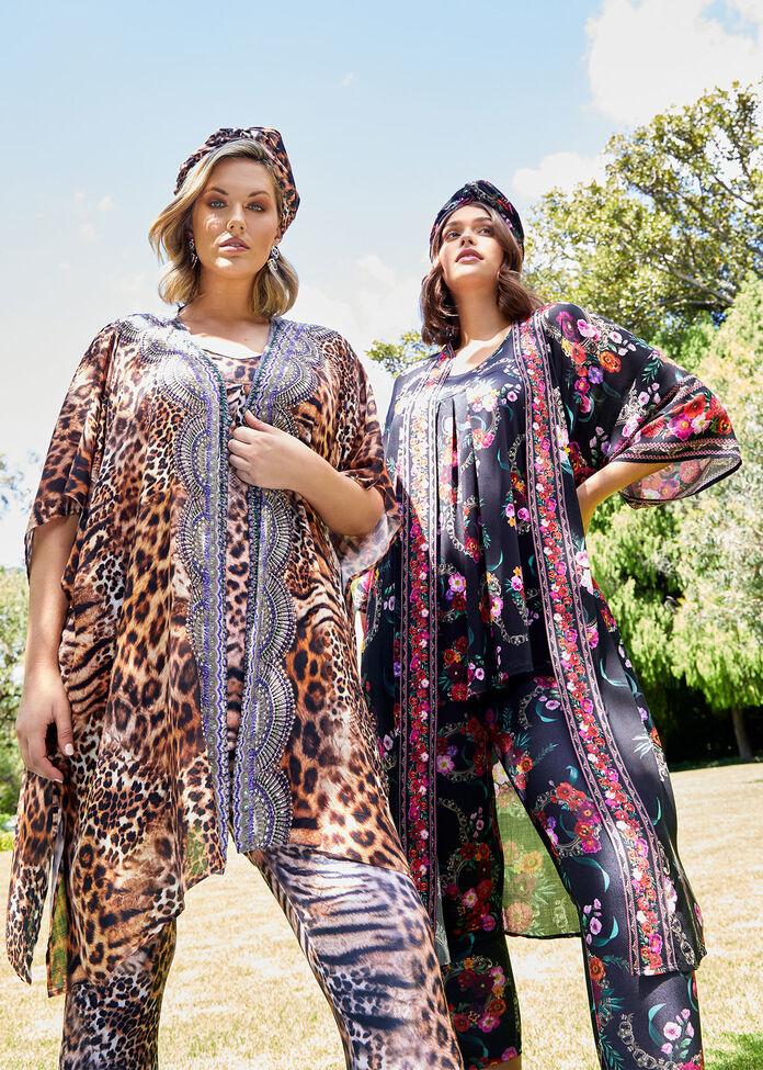 Running Wild Viscose Kimono, , hi-res