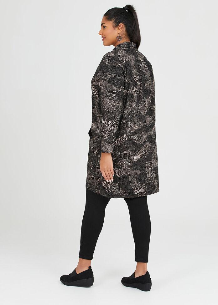 Jacquard Knit Cardigan, , hi-res