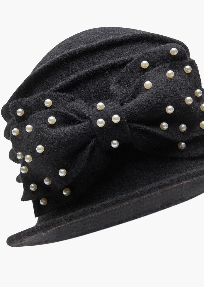 Pearl Bow Hat, , hi-res