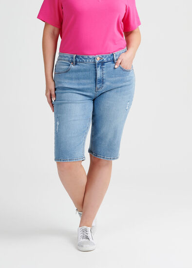 Ripped Coolmax Denim Short