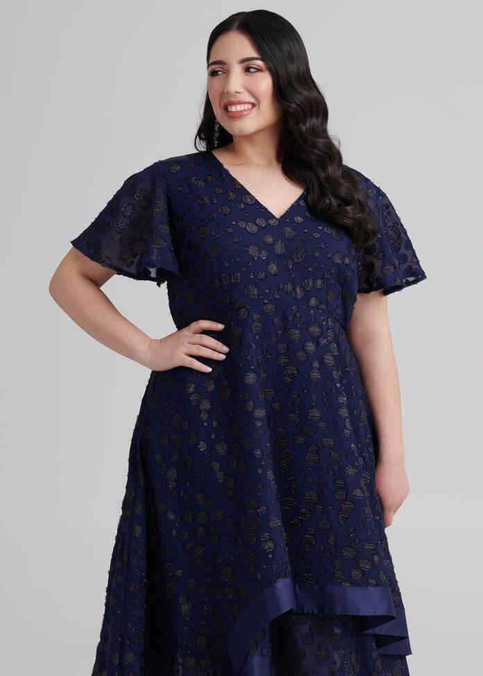 Petite Night High Low Dress, , hi-res