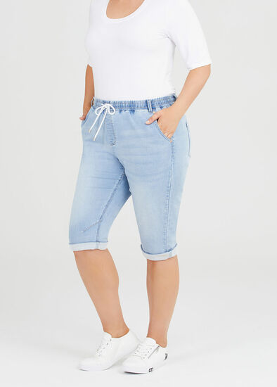 The Easy Fit Crop Denim Jogger