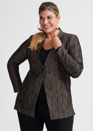 Chevron Chenille Jacket