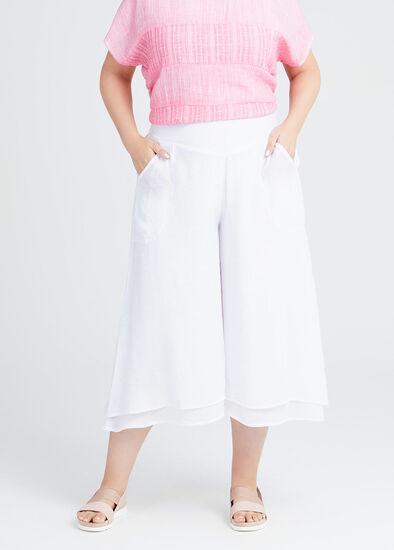 Natural Layered Crop Pant