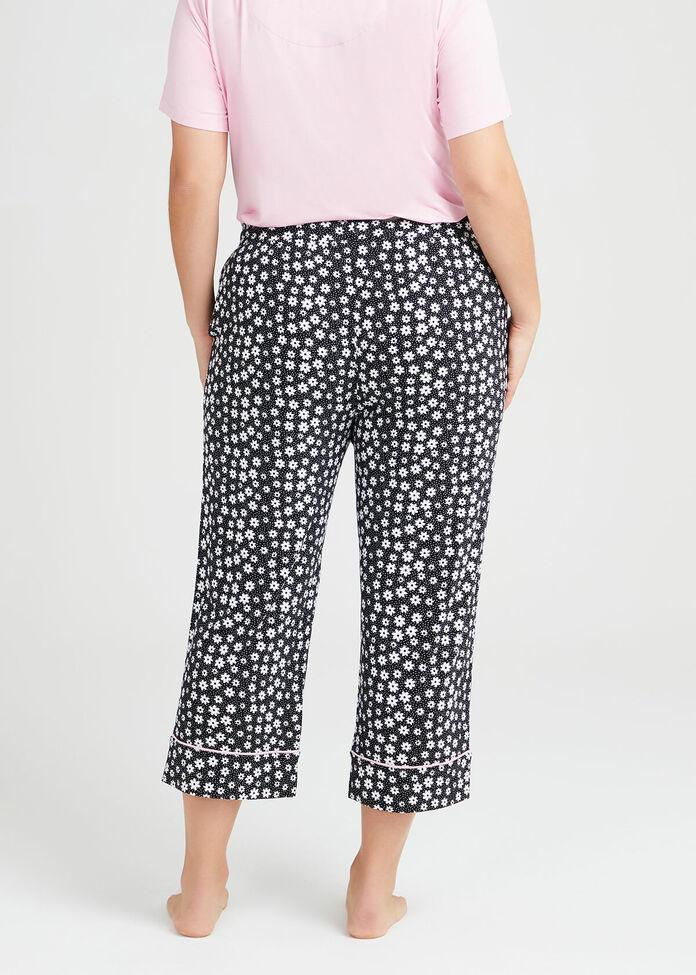 Bamboo Fleur Pyjama Crop Pant, , hi-res
