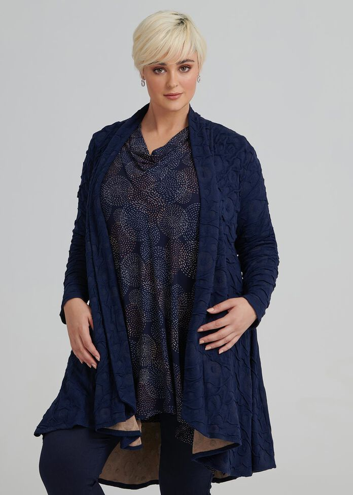 Allure Textured Cardi, , hi-res