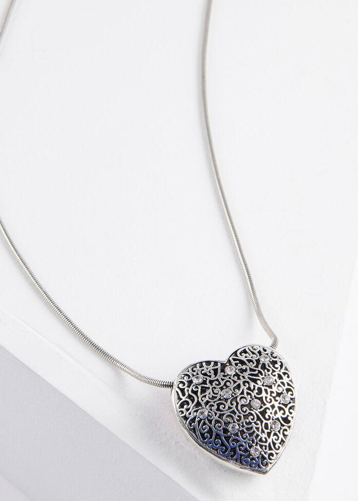Graduated Heart Necklace, , hi-res