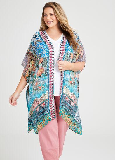 Natural Mosaic Kimono