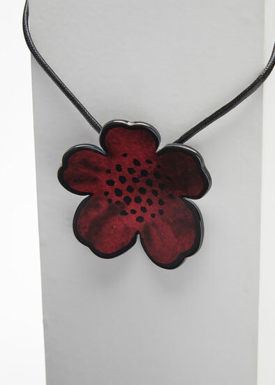 Short Resin Flower Necklace