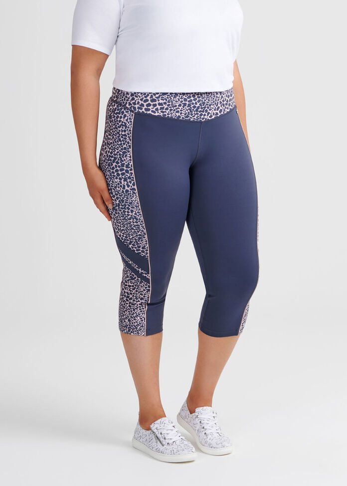 Wild Spliced Crop Legging, , hi-res