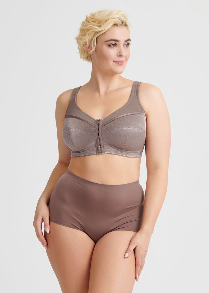 Wirefree Front Opening Bra Sizes 20-24, , hi-res