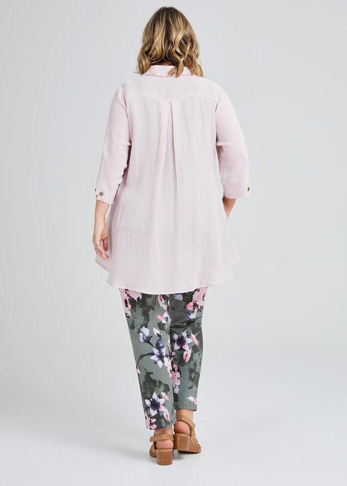 Maxine Linen Swing Shirt, , hi-res
