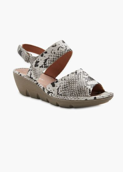 Madison Snake Print Wedge