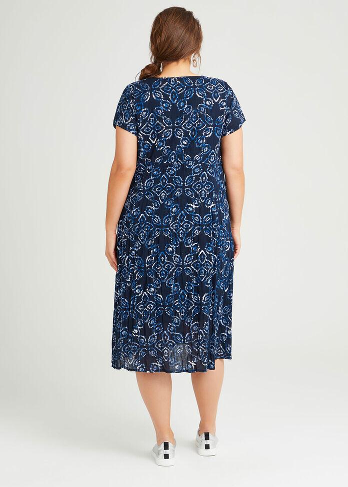 Cotton Shibori Print Dress, , hi-res