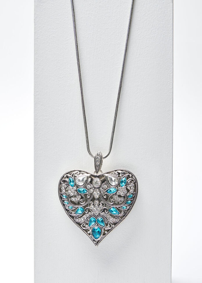 The Blues Heart Necklace, , hi-res