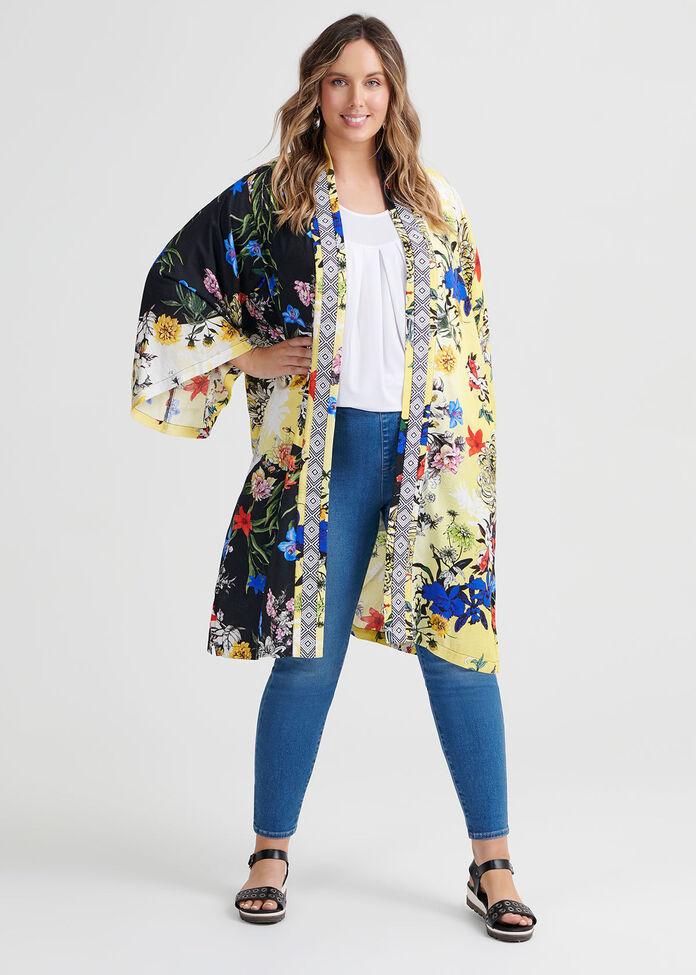 Natural Savannah Kimono, , hi-res