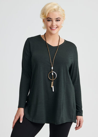 Wool Bamboo V Neck Top