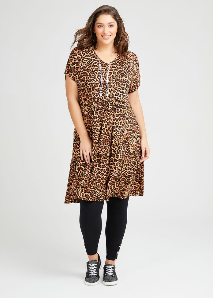 Bamboo Animal Frill Dress, , hi-res