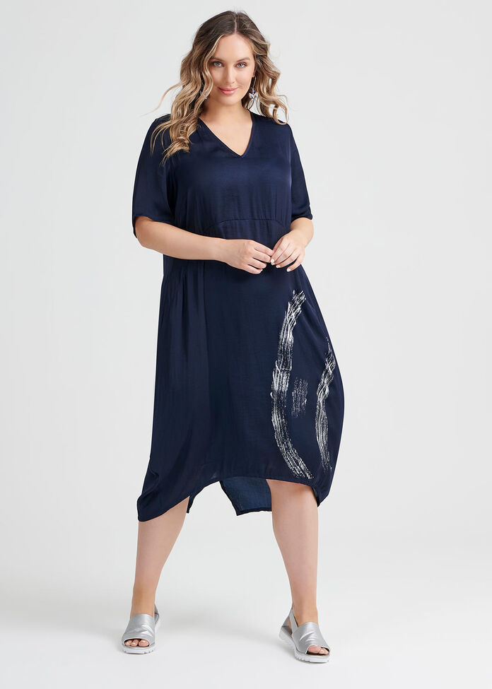 Luxe Blue Lady Dress, , hi-res