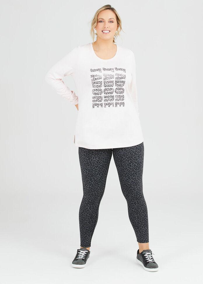 Ocelot Print Legging, , hi-res