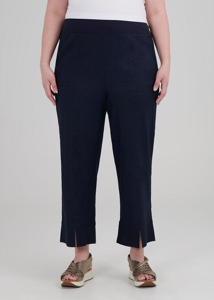 Tall Linen Oasis Crop Pant, , hi-res
