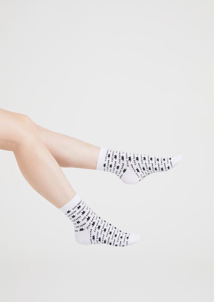 Set/3 Bamboo Kitty Socks, , hi-res