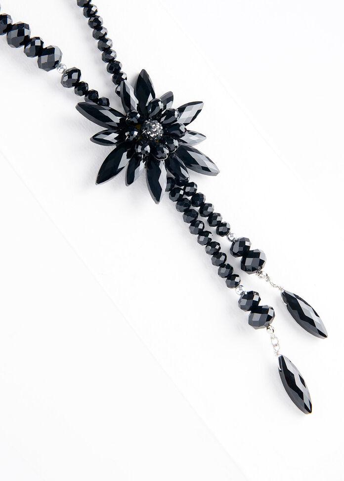 Glam Flower Necklace, , hi-res