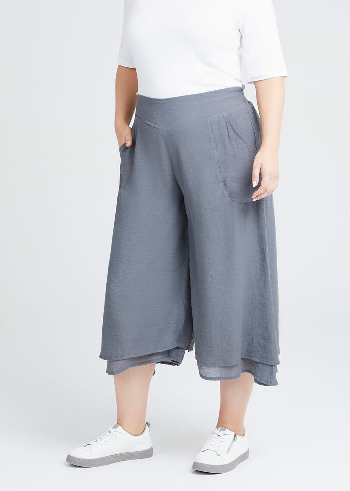 Natural Layered Crop Pant, , hi-res