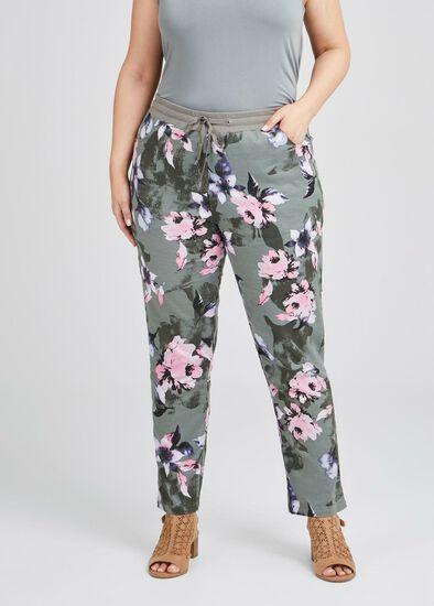 Floral Stretch Linen Pant