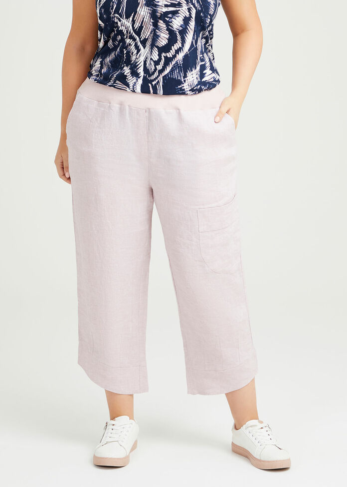 Nomad Linen Crop Pant, , hi-res