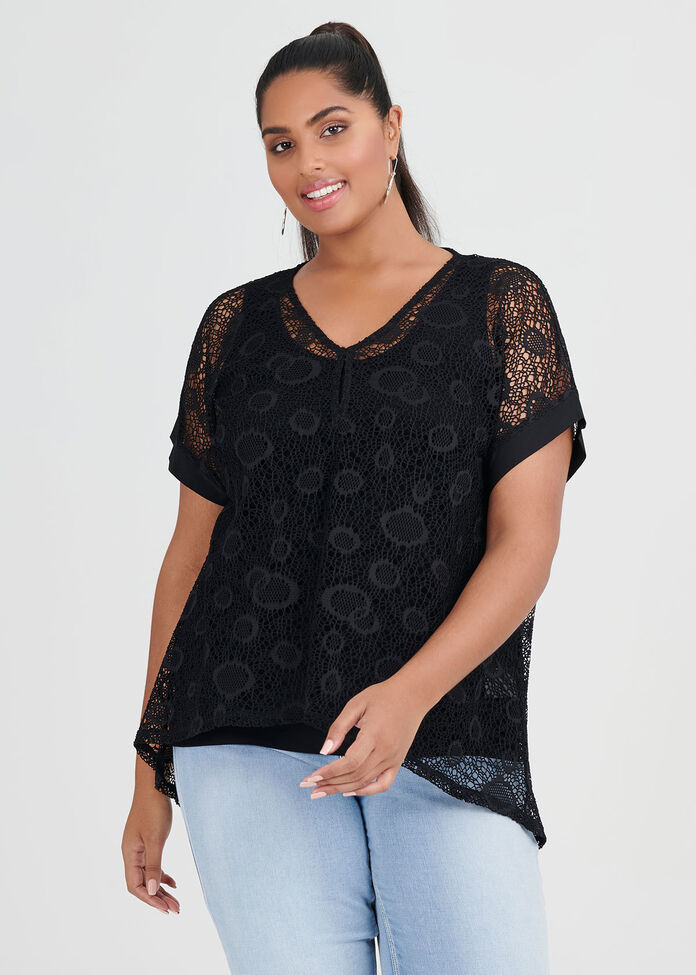 Lace Fancy That Top, , hi-res