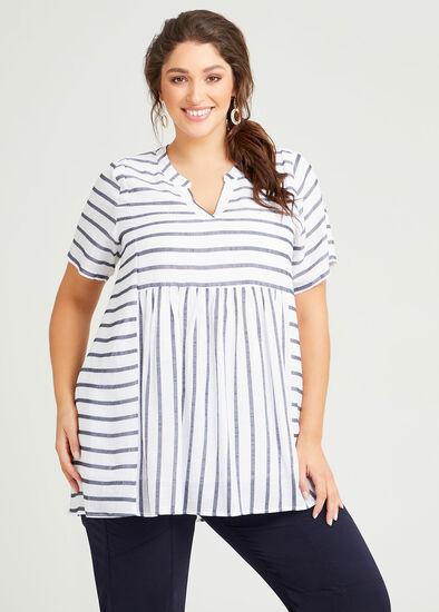 Kristine Natural Stripe Tunic