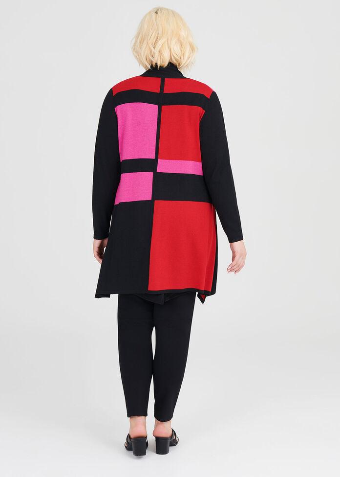 Mondrian Cardigan, , hi-res