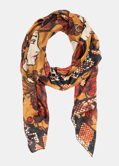 Wild Child Silk Scarf