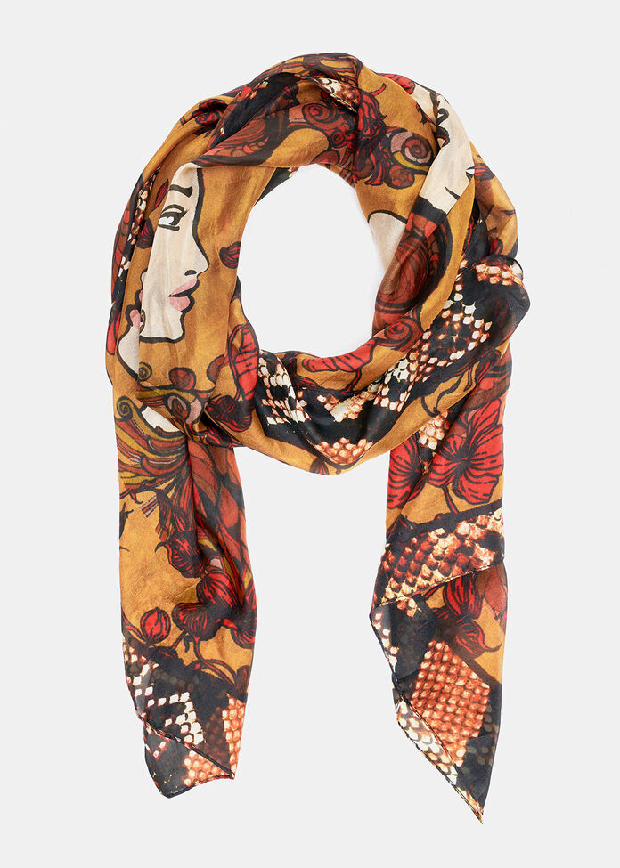 Wild Child Silk Scarf, , hi-res