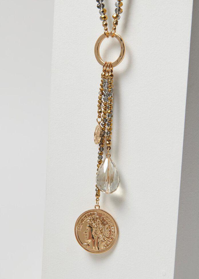 Coin A Phrase Necklace, , hi-res