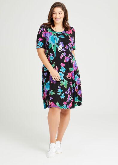 Zena Natural Floral Dress
