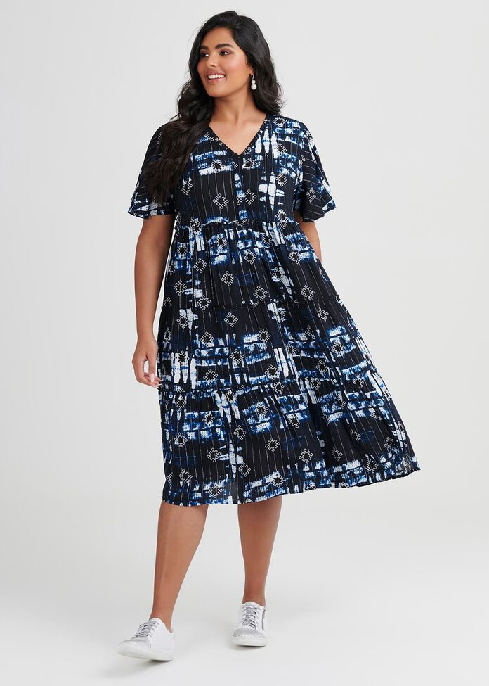 Shibori Ecovero Dress, , hi-res