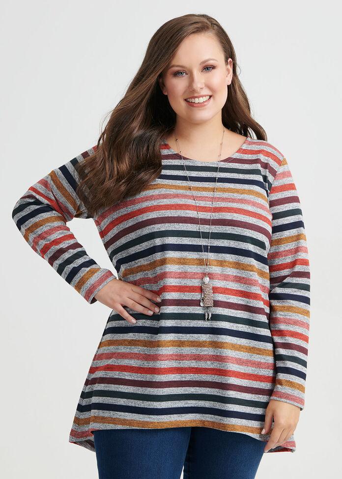 Multi Stripe Top, , hi-res