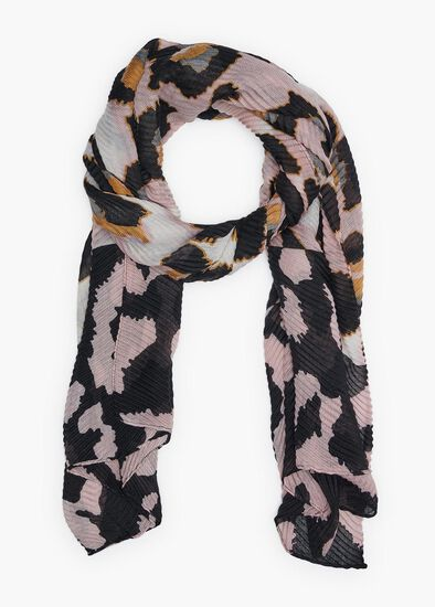 Pleated Animal Scarf