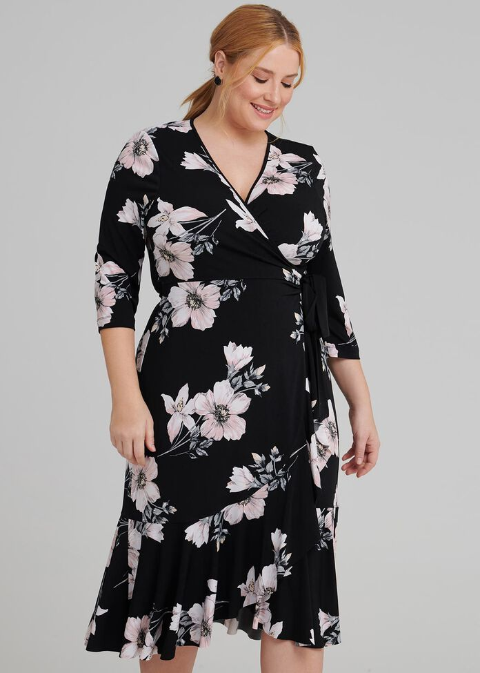 Charlotte Wrap Dress, , hi-res