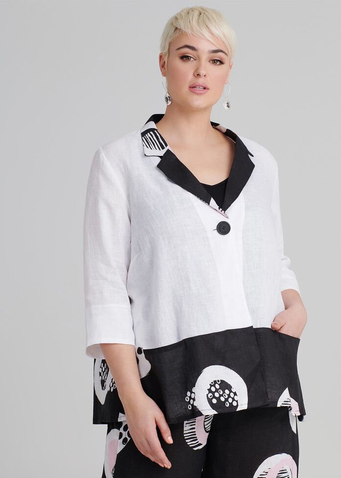 Provence Linen Jacket, , hi-res