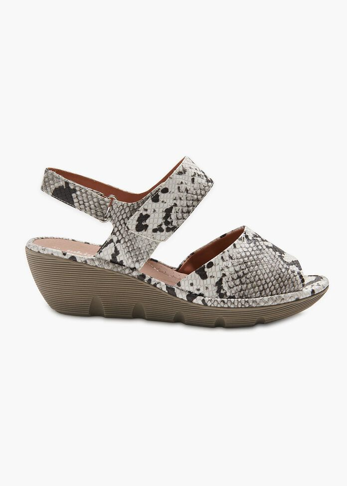 Madison Snake Print Wedge, , hi-res