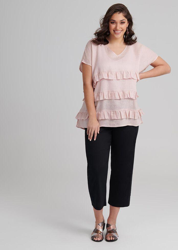 Linen Salma Short Sleeve Tunic, , hi-res