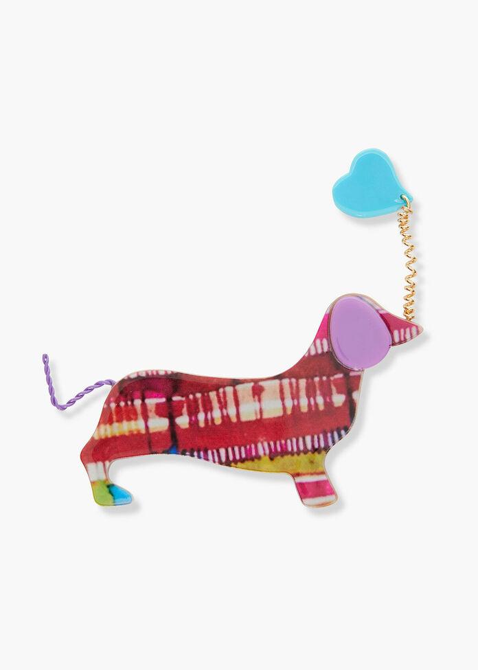 Sausage Dog Brooch, , hi-res