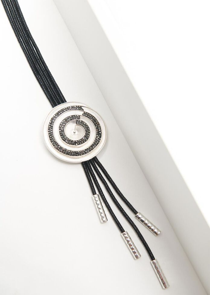 Crusted Coil Necklace, , hi-res